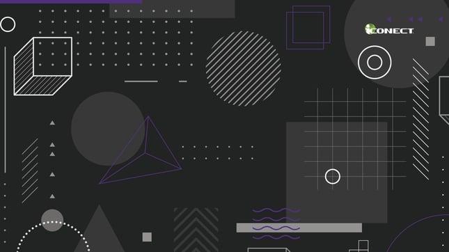 Purple Black Geometric