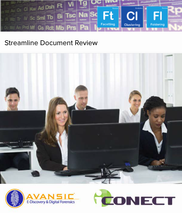 iCONECT and Avansic offer streamline document review webinar